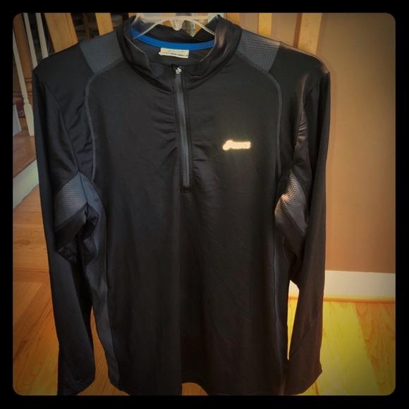 b447e3bde0 Asics Shirts   Mens Extra Large Zip Up Black Pullover   Poshmark